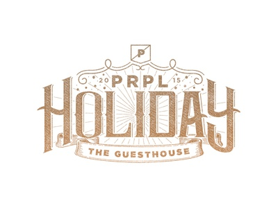 PRPL Holiday Menu 2015 christmas 2015 illustration holiday handlettering prpl