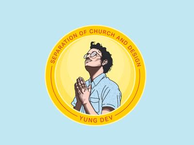 Separation illustration almighty dev church religion badge