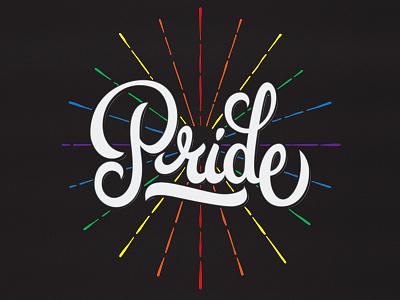 Pride pulse lettering pride community lgbt strong orlando