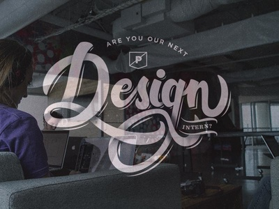 Creative Internship Available lettering hand looking designer design creative internship