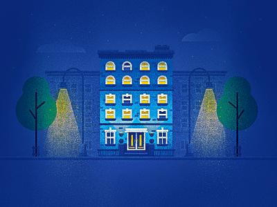 Window Blues texture steeze deez night city illustration building house