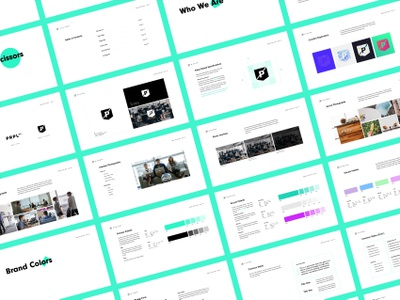 Brand Guidelines style typography colors prpl guides brand