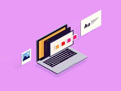 Current Mood illustration illustrator guides laptop image type palette iso