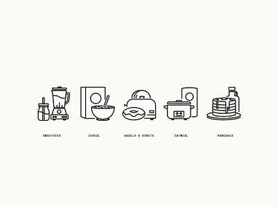 Breakfast Icons prpl perks on-boarding food breakfast icons