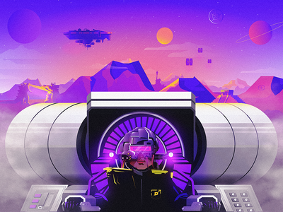 Vacation from Yourself illustrator prpl recall sci-fi fantasy blog illustration