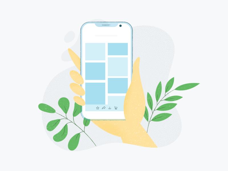 Mobile Client Galleries design ui phone adobe illustration gallery