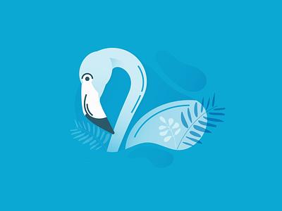Flamingo bird flamingo tropical icon botanical design vector adobe ui illustration