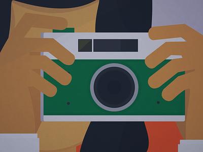Say cheese! illustration animation girl camera