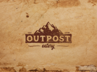 Rustic logo for Outpost Eatery