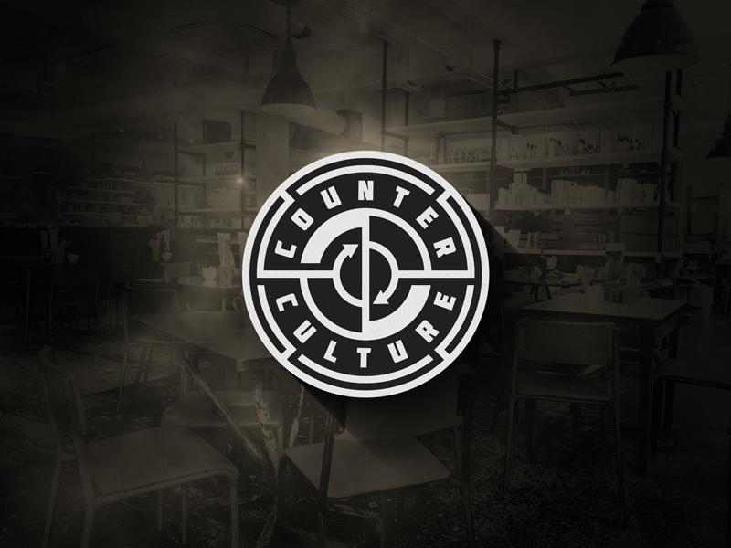 COUNTER CULTURE industrial look coffe shop brand logo creative logo logo design counter culture freelance logo logo designer logomark monkeymark