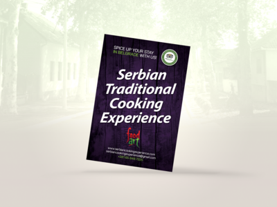 Serbian Traditional Cooking Experience | Flyer design