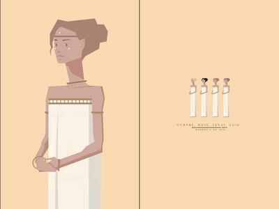 Nymphe, Muse, Lenai, Clio; Maiden's of Ava