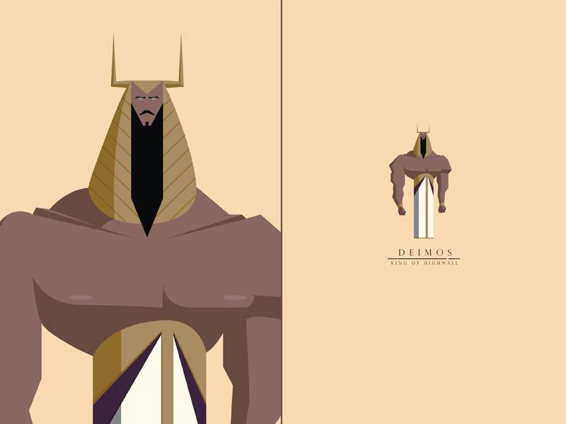 Deimos, King of Highwall tyrant king swordandsandal characterdesign
