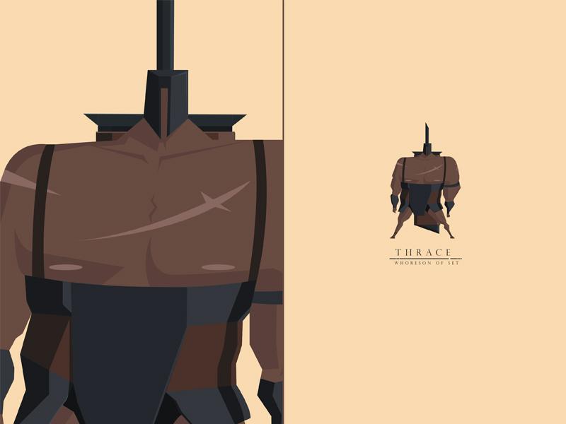 Thrace, Whoreson of Set brute warrior highwall swordandsandal characterdesign
