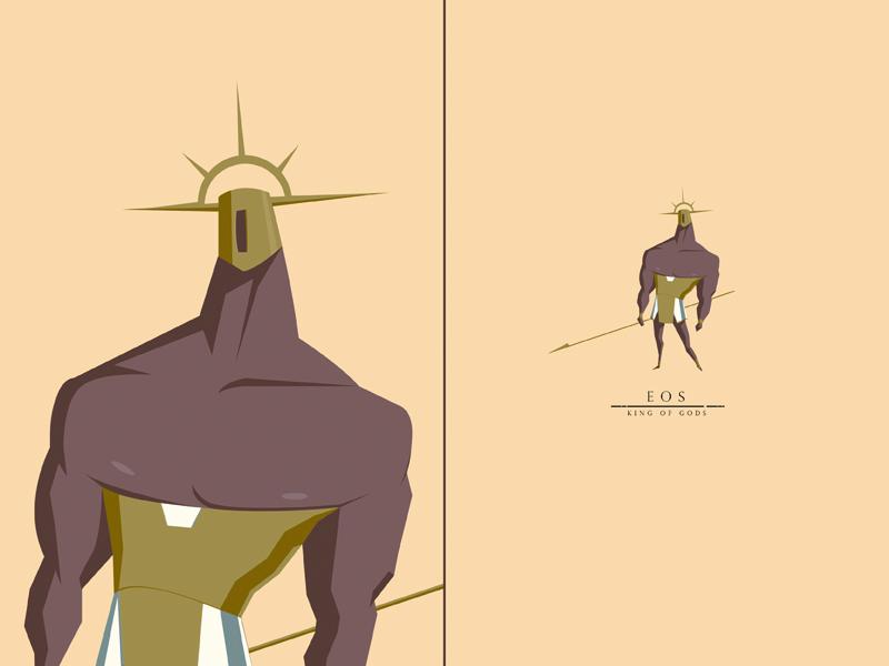 Eos, King of Gods swordandsandal warrior king gods characterdesign
