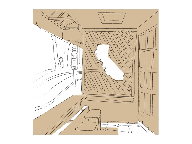 Coffee Shop Sketch 1 coffee coffeeshop illustration sketch
