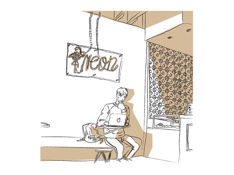Coffee Shop Sketch 2 coffeeshop coffee illustration sketch