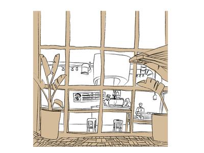 Coffee Shop Sketch 3