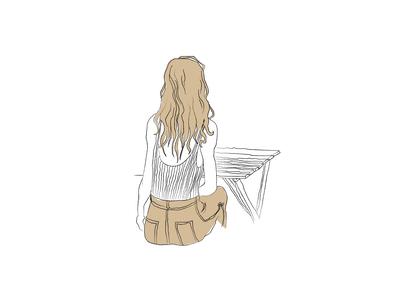 Coffee Shop Sketch 6