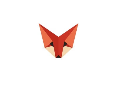 Foxy fennec fox geometric logo
