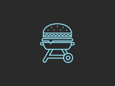 WIP - Playing with some ideas logo grill burger