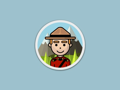 Mountie playoff sticker character mountain canada mountie