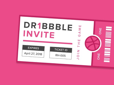 Dribbble Invite draft shot giveaway ticket dribbble invite invitation invite