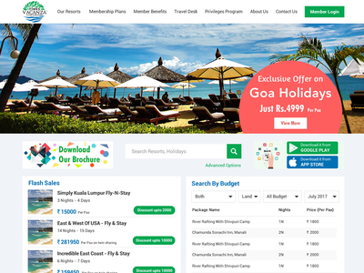 Holiday Membership UI/UX Design website page design website ui ux web page ui