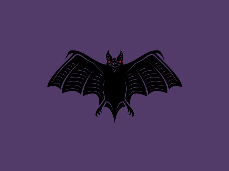 Spooks 02 illustration spooky night bat halloween