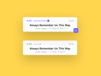 A simple clean music player widget