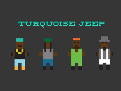 Turquoise Jeep