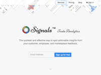 Signals Landing Page
