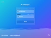 Stratifyd Sign in Page