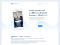 The FitForce landing page