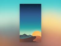 An illustration for mobile wallpaper