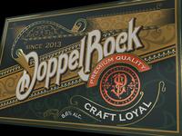 DoppelBock beer label design