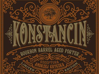 Label design for Konstancin Brewery typography typografia poland konstancin morawski mikstura label handlettering design craft beer brand