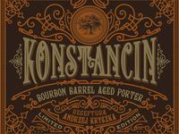 Label design for Konstancin Brewery