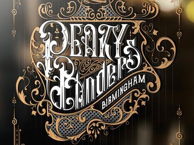 Peaky Blinders fan art design typography typografia poland morawski mikstura fan handlettering design craft blinders peaky