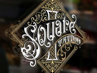 Square 1 Tattoo logo design typografia gafika monogram bydgoszcz mikstura morawski tattoo craft design logo handlettering typography