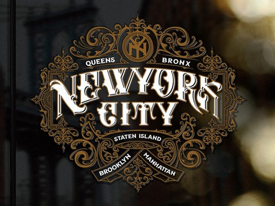 New York City apparel design vintage apparel typography ornaments logo lettering handlettering graphic design craft