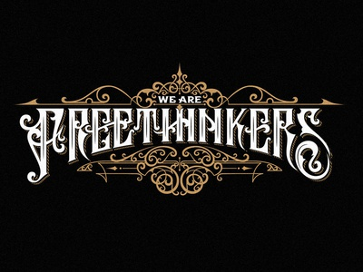 We are Freethinkers vintage typography ornaments logo lettering handlettering graphic design craft