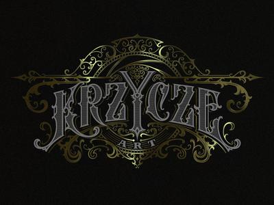 Krzycze Art vintage typography ornaments logo lettering handlettering graphic design craft photography