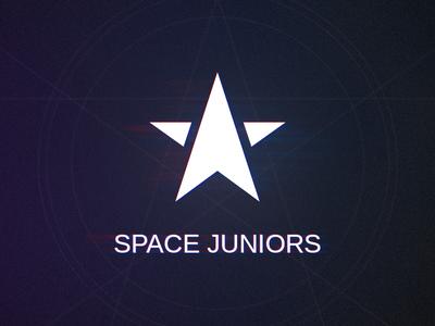Space Juniors glitch logo star space