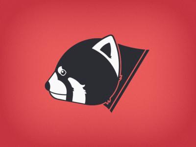 Red Cat Bear v.2 red panda panda logo