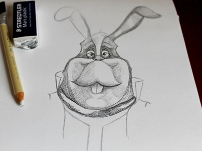 Peppy illustration sketch peppy hare starfox pencil sketch barrel roll