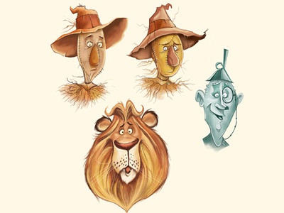 Oz character design childrens story childrens book illustration