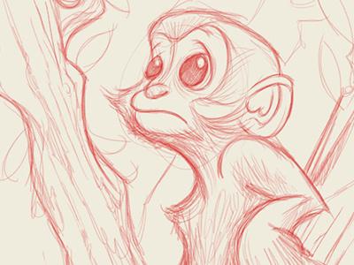 littlest leaf monkey illustration monkeys monkey drawing red pencils