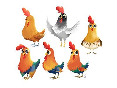 Chicken Scratch character development character design chicken chickens hens