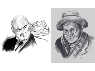 Mr. Potter and Uncle Billy illustration characters mr. potter uncle billy its a wonderful life